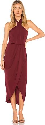 Shona Joy Knot Draped Dress in Purple