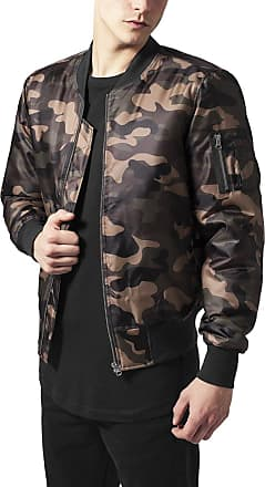 Urban Classics Mens Basic Bomber Jacket, Brown (Wood camo), XL