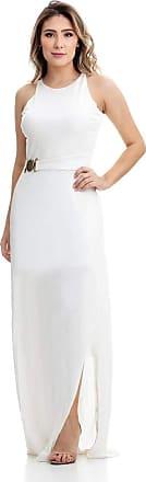 Clara Arruda Vestido Clara Arruda Longo Fivela 50300 - M - Off White