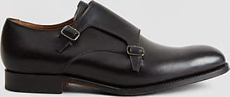 Hackett Mens Double Monk Leather Shoes | Size 105 | Black