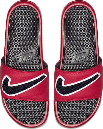 2169b387e03f64 Nike BENASSI JDI CHENILLE Badelatschen Herren in gym  red-obsidian-white-dark