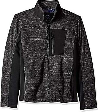 Urban Republic Mens Melange Jersey Jacket, Black, S