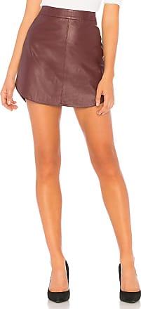BB Dakota Conrad Leather Skirt in Purple