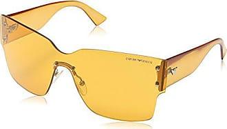 Emporio Armani Armani Jeans- Lunette de soleil EA 9894 S Enveloppante -  Golden Brown 5b4baa647289