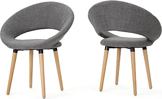 BEST SELLING HOME Leland Fabric Modern Dining Chair - Set of 2 Muted Orange - 301202