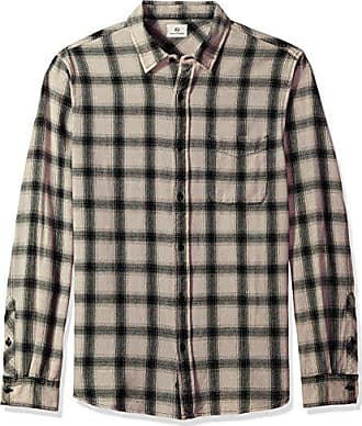 e47d893698c6e6 AG - Adriano Goldschmied Mens Colton Long Sleeve Washed Plaid Button Down,  Years Mineral Veil