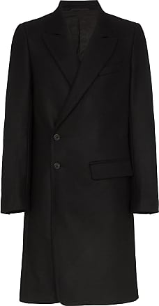 Ann Demeulemeester peaked-lapel single-breasted coat - Preto