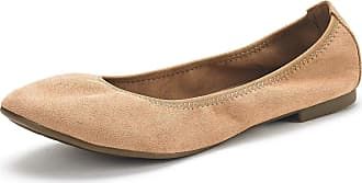 Dream Pairs Womens Slip On Round Toe Ballerina Ballet Flats Pumps Shoes Latte Nude Size 8.5 US/6.5 UK