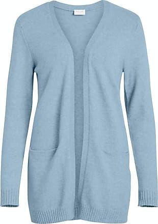 Vila Womens Viril L/s Open Knit Cardigan-noos Sweater, Ashley Blue, Detail: Melange, X-Large