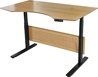 Unique Furniture Prestige Sit-Stand Collection Electric 63 in. Adjustable Standing Desk Espresso - 76339-ESP