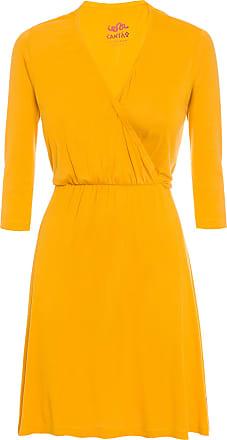 Cantão Vestido Malha Cachecour Cantão - Amarelo