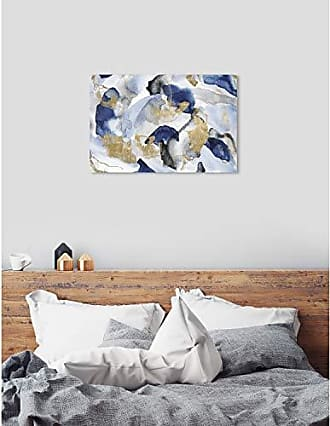 The Oliver Gal Artist Co. The Oliver Gal Artist Co. Abstract Wall Art Canvas Prints Head in The Clouds Home Décor, 45 x 30, Blue, Gold