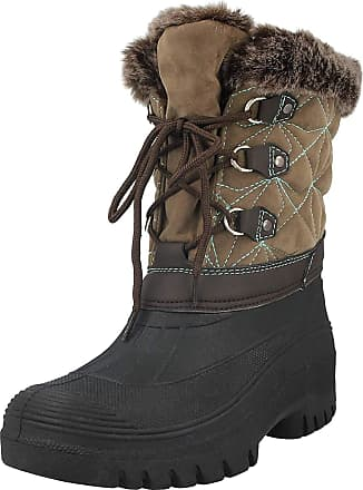Groundwork Ladies Faux Suede Fur Trim Lined Waterproof Warm Wellington Wellies Walking Rain Mid Calf Snow Boots Size 4-8 (UK 7/EU 40, Cognac/Turquoise)