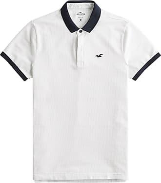 Hollister T-Shirt Modern Collar schwarz / weiß