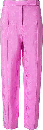 Nina Ricci logo jacquard high-rise pants - Rosa