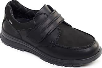 Padders Trek Mens Leather Wide (G/H) Shoes Black UK 8.5