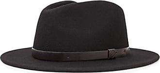 Brixton Mens Messer Medium Brim Felt Fedora Hat, black/black, Small
