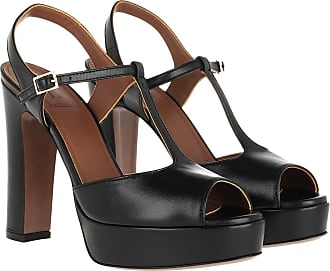 L'autre Chose Sandals - Nappa Heel Black - black - Sandals for ladies