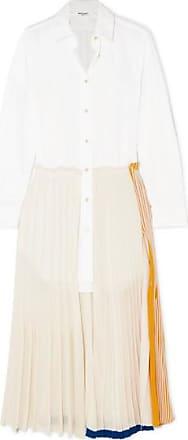 b76faa63ed1 Sonia Rykiel Layered Cotton-poplin And Jersey Maxi Dress - White