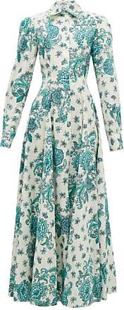 Evi Grintela Jasmine Floral-print Cotton Shirt Dress - Womens - Cream Print