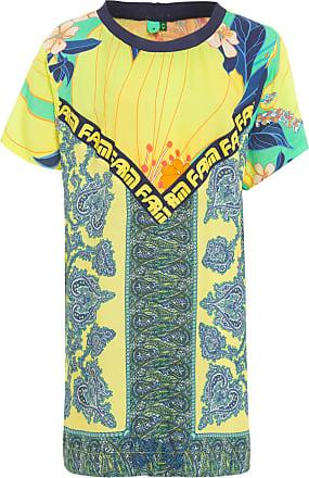 Farm Vestido T-shirt Lenço - Amarelo