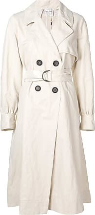 Forte_Forte balloon sleeve trench coat - Neutrals