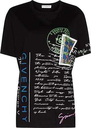 Givenchy Camiseta de algodão com estampa - Preto