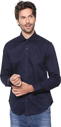 Sergio K. Camisa Sergio K Slim Lisa Azul-marinho