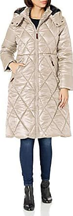 Urban Republic Womens Juniors THINFILL Quilt Long Jacket Stone M