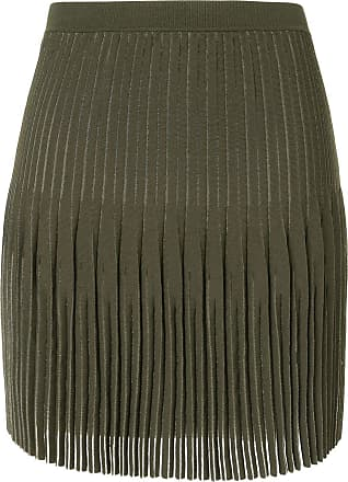 Dion Lee godet pleat mini skirt - Green