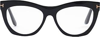 Tom Ford Eyewear Armação de Óculos Gatinho Preta - Mulher - Preto - Único US