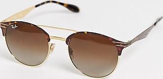 Ray-Ban 0RB3545 - Braune Sonnenbrille mit runden Gläsern