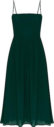Reformation Vestido midi Rosehip com pregas - Verde