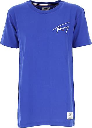 Tommy Hilfiger T-Shirts für Damen, TShirts Günstig im Sale, Blau, Baumwolle e0164b9541