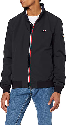 Tommy Jeans Mens TJM Essential Bomber Jacket Sports, Black (Black Bbu), X-Large (Size:XL)