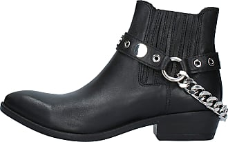 Inuovo Boot Texan Boot with Chain MOD. 166002 Black Black Size: 8.5 UK