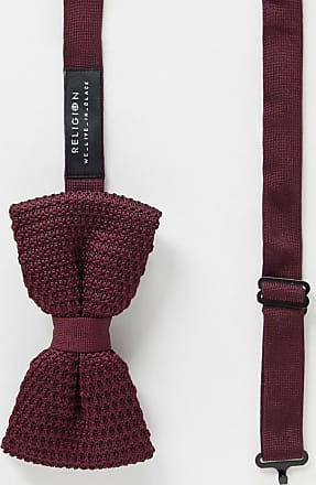 Religion knitted bow tie-Red