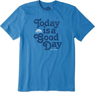 Life is good Mens Good Day Sun Crusher Tee L Marina Blue 2e45e6604