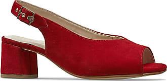 Van Dal Womens Rainier Sling Back Sandals - Red Suede, UK 3.5