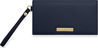 Katie Loxton Cleo Womens Soft Pebble Vegan Leather Wallet Purse Wristlet Navy