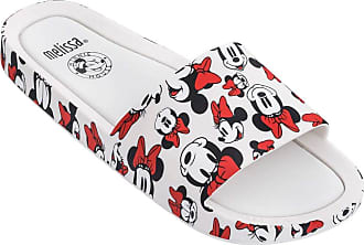 Melissa Beach Slide + Mickey And Friends (Branca/Vermelha)