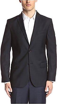 J.Lindeberg Mens Hopper Soft 100S Structure Sportcoat, Black 9999, 50