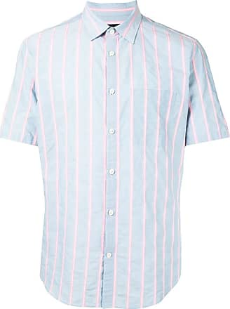 Durban short sleeve stripe print shirt - Azul