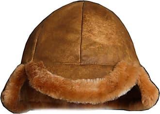 Insun Unisex Shearling Sheepskin Trapper Hunting Bomber Hat Ushanka Khaki 5 M Hat Circumference 58-60cm