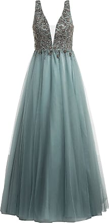 Unique Abendkleid mit Stola - PETROL