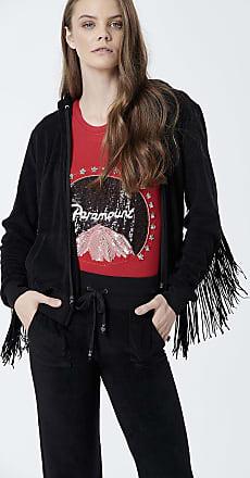 Sugarfree Black fringed hoodie terry jacket