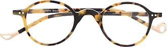 Eyepetizer Armação de óculos tartaruga Plaza - Amarelo
