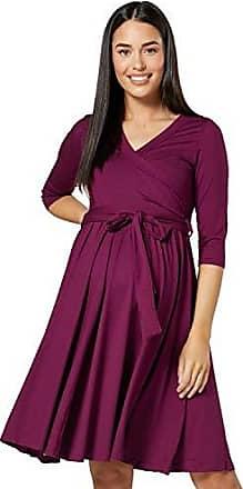 HAPPY MAMA Damen Umstands Stillkleid Midi Schaukel Kleid Kurzarm.084p Style 10, 40, L