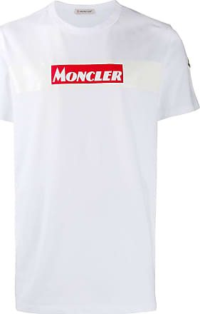 Moncler Camiseta com estampa de logo - Branco
