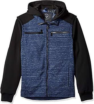 Urban Republic Mens Melange Jersey Jacket, Blue, XL